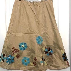 JJill lightweight skirt with floral XSP